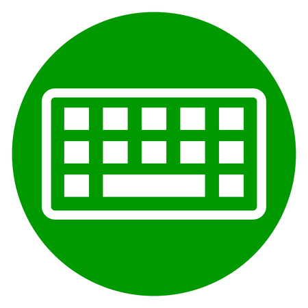 Illustration of keyboard circle green icon Illustration