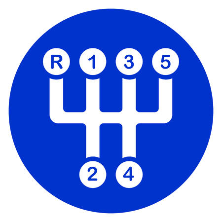 Illustration of car transmission circle icon Vector Illustration