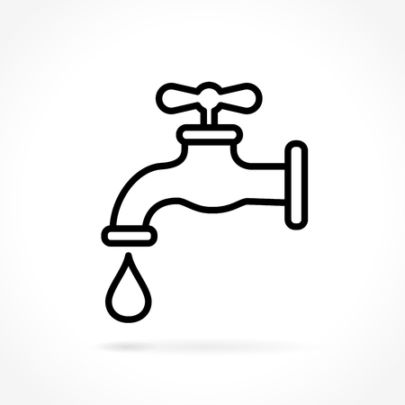 Illustration of faucet icon on white background Vectores
