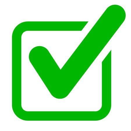 Illustration of green checkmark icon concept.