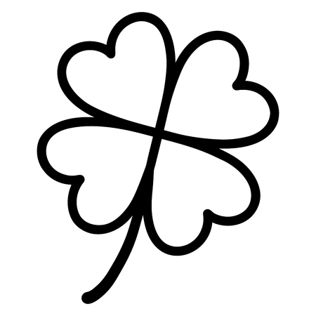 Illustration of clover icon on white background