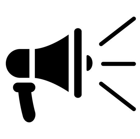 Illustration of loud speaker icon on white background Çizim
