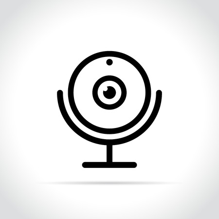 Illustration of webcam icon on white background