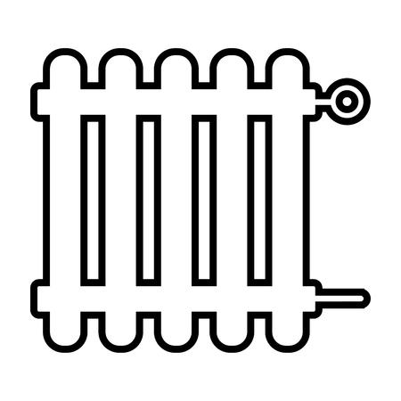 Illustration of radiator icon on white background.