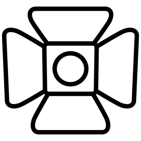 Illustration of spotlight icon on white background.