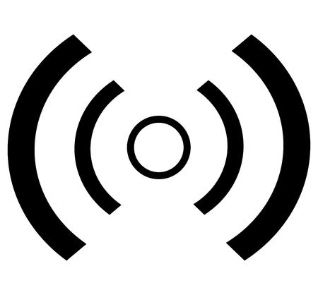 Illustration of wave icon on white background.