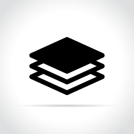 Illustration of layers icon on white background Stock Illustratie