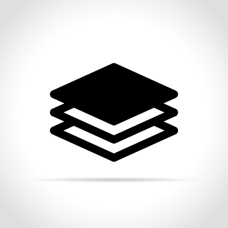 Illustration of layers icon on white background Vettoriali