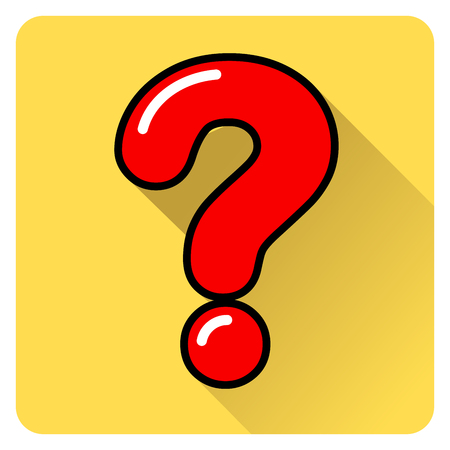 Illustration of question mark color icon Çizim