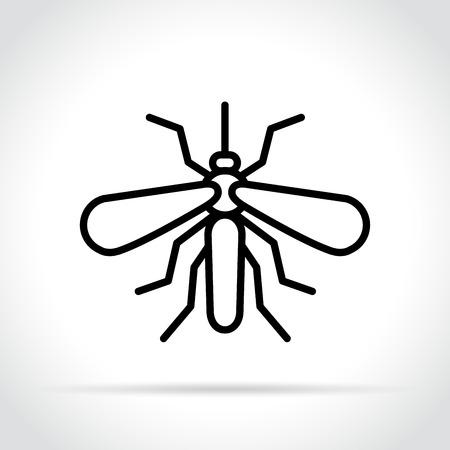Illustration of mosquito icon on white background