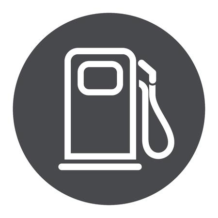 Ilustración del icono gris del círculo de la bomba de combustible