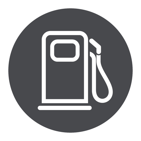 Illustration of fuel pump circle grey icon