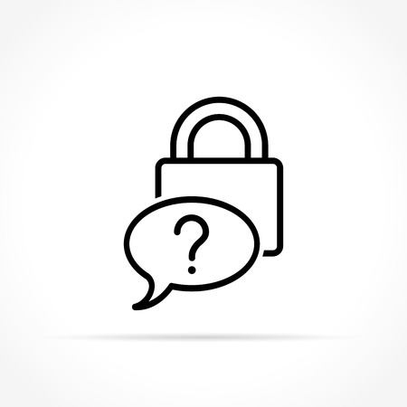 Illustration of forgot password icon on white background