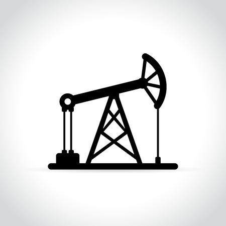 Illustration of oil pump icon on white background. Illustration