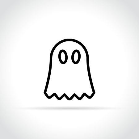 Illustration of ghost icon on white background.