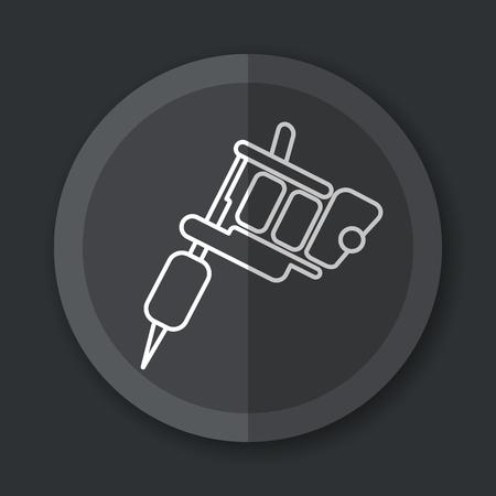 Illustration of tattoo machine grey icon flat concept