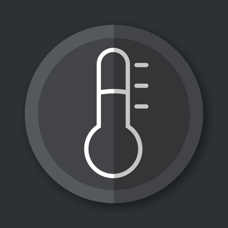 Illustration of thermometer grey icon flat concept