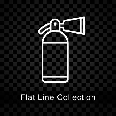 Illustration of fire extinguisher icon on checkered background