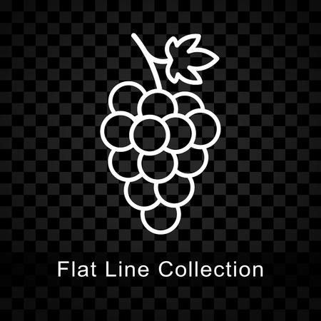 Illustratie van druivenpictogram op geruite achtergrond Stock Illustratie