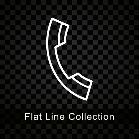 Illustration of phone icon on checkered black background