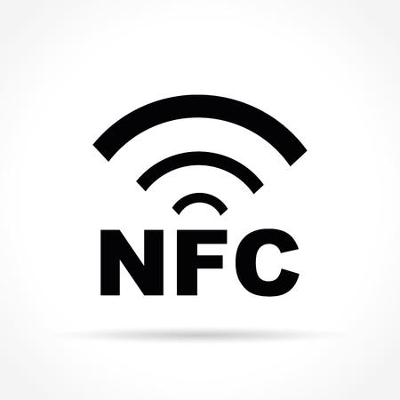 Illustration of nfc icon on white background