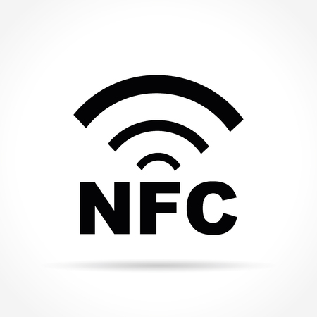 Illustration of nfc icon on white background