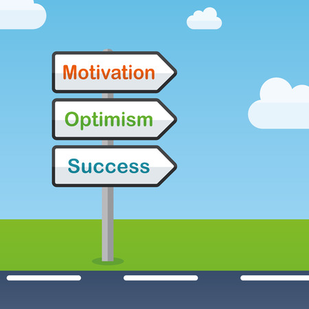 Illustration of motivation direction signs abstract concept Ilustrace