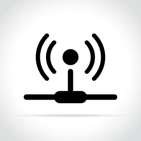 Illustration of router icon on white background