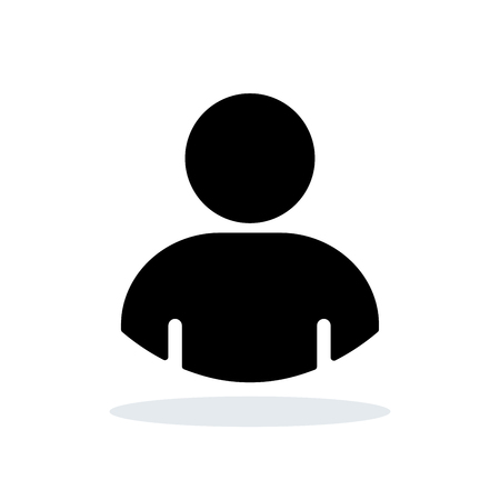 Illustration of person icon on white background