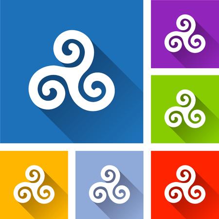Celtic symbol image illustration  イラスト・ベクター素材