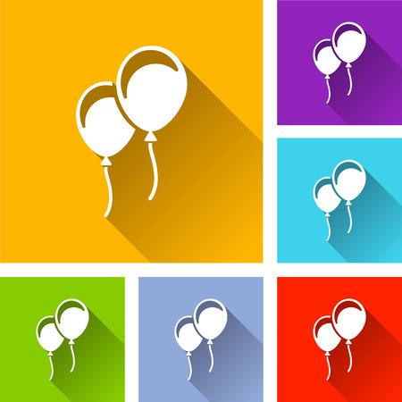Balloons icons illustration