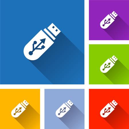 Flash drive icons illustration