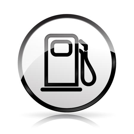 Ilustración del icono de la bomba de combustible en el fondo blanco