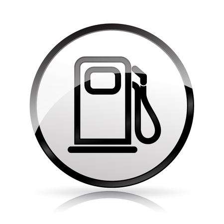 Illustration of fuel pump icon on white background Vectores