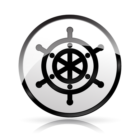 Illustration of helm icon on white background
