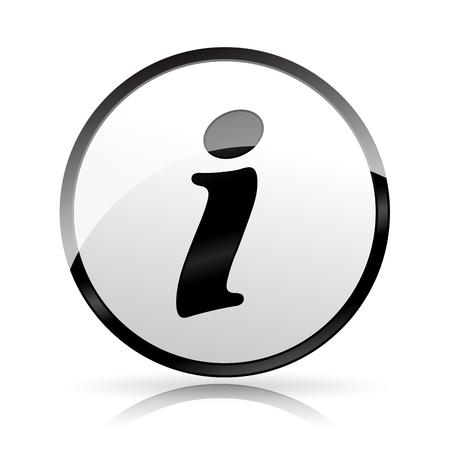 Illustration of information icon on white background