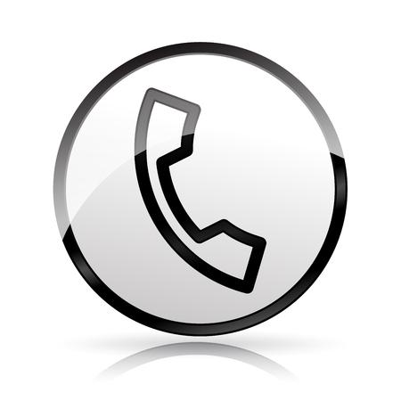 Illustration of phone icon on white background Иллюстрация