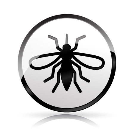 Illustration of mosquito icon on white background