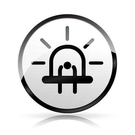 Illustration of diode icon on white background