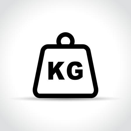 Illustration of weight icon on white background.
