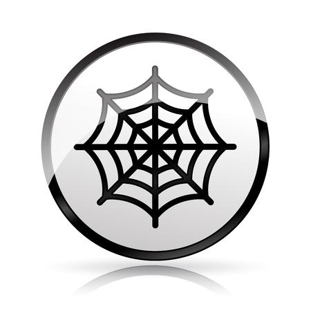 Illustration of cobweb icon on white background