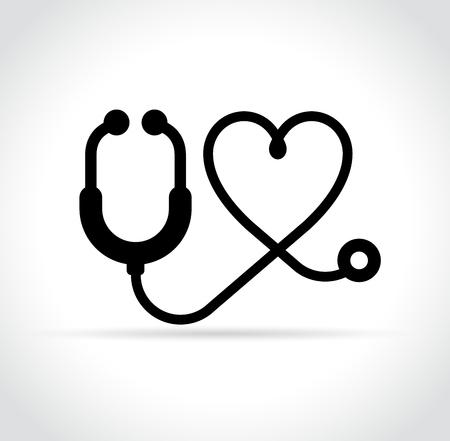 illustration of stethoscope icon on white background
