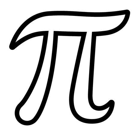 Illustration of pi symbol on white background 向量圖像