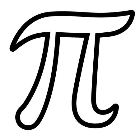 Illustration of pi symbol on white background Illustration