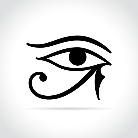Illustration of horus eye icon on white background Illustration