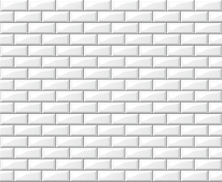 Ilustración de diseño de fondo de pared de azulejos blancos