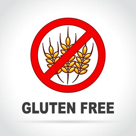 Illustration of gluten free icon on white background Illustration