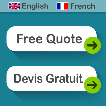Illustration of free quote button with french translation
