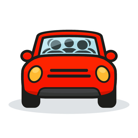 Illustration of carpool design on white background  イラスト・ベクター素材