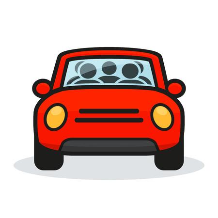 Illustration of carpool design on white background Illustration